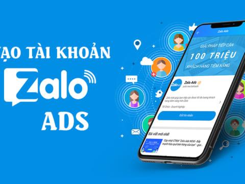 Cách tạo tài khoản quảng cáo Zalo Ads